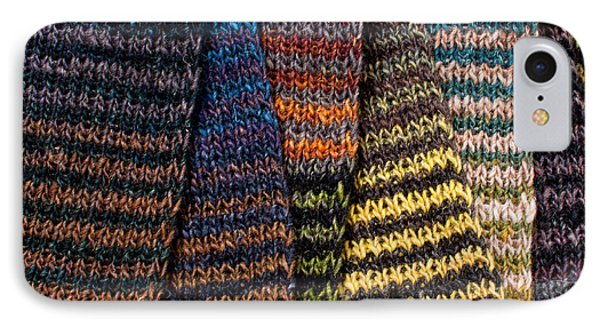 IPhone Case featuring the photograph Colorful Scarves by Les Palenik