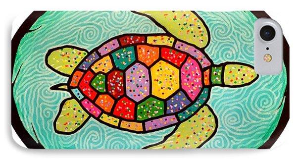 Colorful Sea Turtle IPhone Case