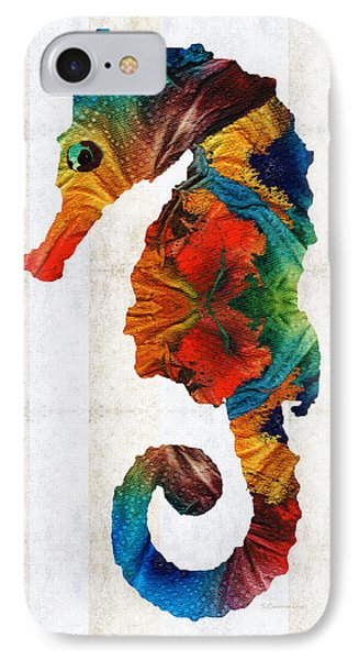Colorful Seahorse Art By Sharon Cummings IPhone Case by Sharon Cummings