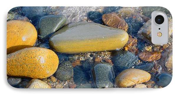 Colorful Shore Rocks IPhone Case by Mary Bedy