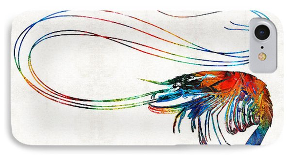 Colorful Shrimp Art By Sharon Cummings IPhone Case by Sharon Cummings
