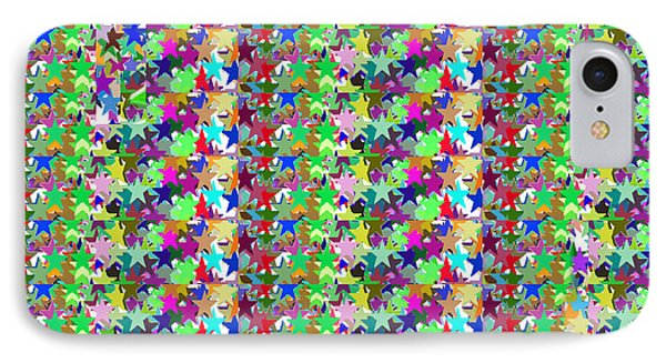 IPhone Case featuring the photograph Colorful Star Graphics Decorations by Navin Joshi