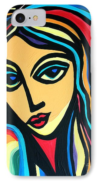 Colorful Stare IPhone Case by Cynthia Snyder