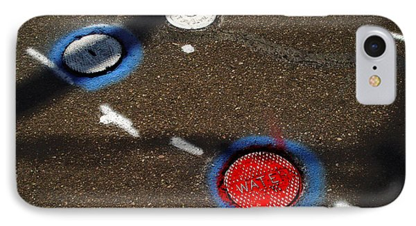 Colorful Storm Drain Covers And White IPhone Case by Panoramic Images