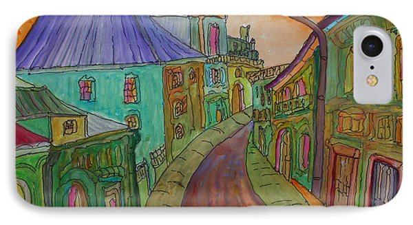 Colorful Street Phone Case by Oscar Penalber