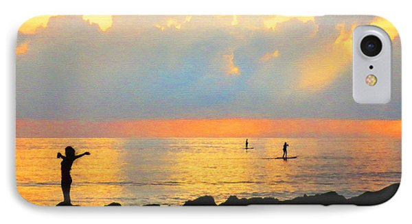 Colorful Sunset Art - Embracing Life - By Sharon Cummings IPhone Case by Sharon Cummings