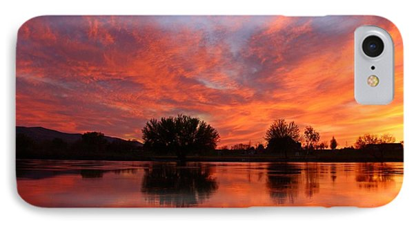 IPhone Case featuring the photograph Colorful Sunset by Lynn Hopwood