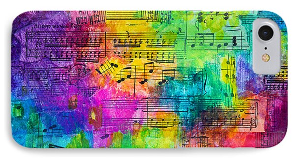 IPhone Case featuring the mixed media Colorful Symphony by Melissa Sherbon