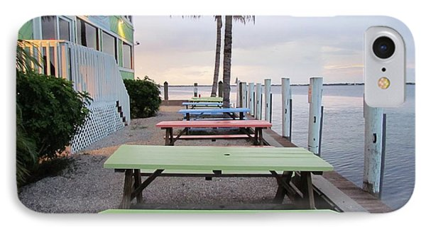IPhone Case featuring the photograph Colorful Tables by Cynthia Guinn