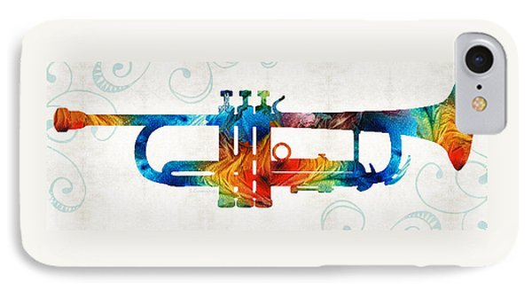 Colorful Trumpet Art Color Fusion By Sharon Cummings IPhone 7 Case