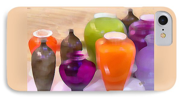Colorful Vases I - Still Life IPhone Case by Ben and Raisa Gertsberg