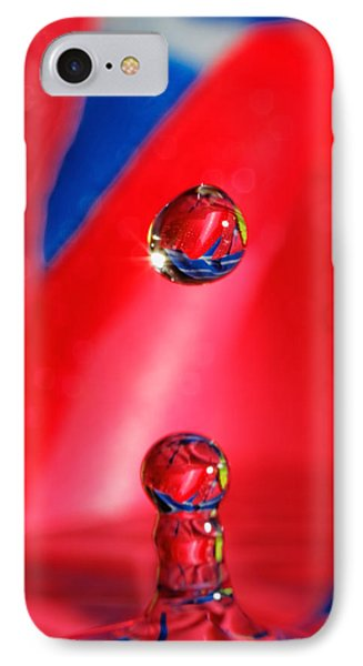 IPhone Case featuring the photograph Colorful Water Drop by Peter Lakomy
