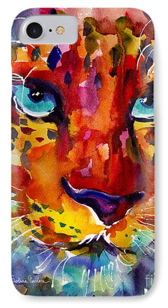 Colorful Watercolor Leopard Painting IPhone Case by Svetlana Novikova