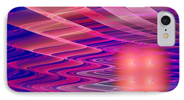 Colorful Waves Abstract Fractal Art IPhone Case by Keith Webber Jr