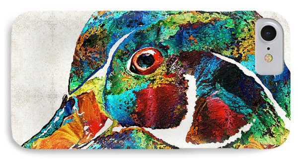 Colorful Wood Duck Art By Sharon Cummings IPhone Case by Sharon Cummings