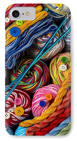 Colorful World Of Art And Craft IPhone Case by Garry Gay