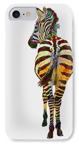 Colorful Zebra IPhone Case by Teresa Zieba