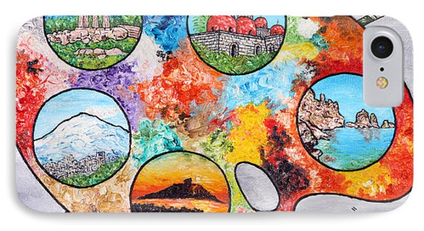 Colori Di Sicilia IPhone Case by Loredana Messina