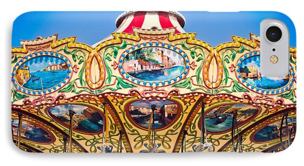 Colors Of A Carousel IPhone Case by Colleen Kammerer