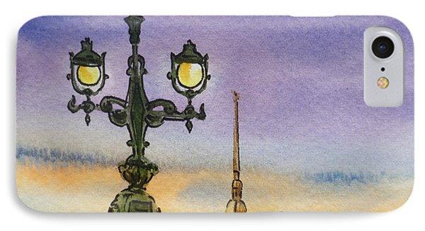 Colors Of Russia Bridge Light In Saint Petersburg Phone Case by Irina Sztukowski