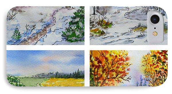 Colors Of Russia Four Seasons Phone Case by Irina Sztukowski