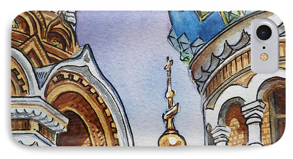 Colors Of Russia St Petersburg Cathedral II Phone Case by Irina Sztukowski