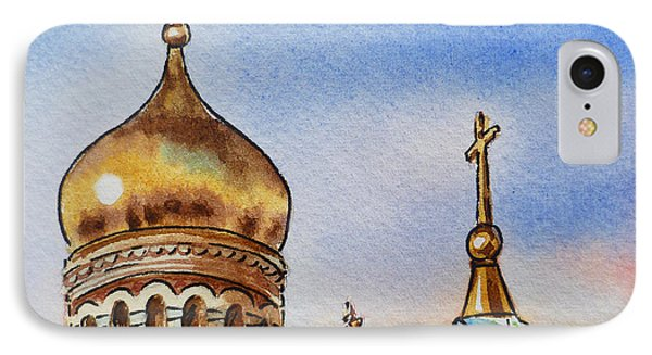 Colors Of Russia St Petersburg Cathedral Iv IPhone Case by Irina Sztukowski