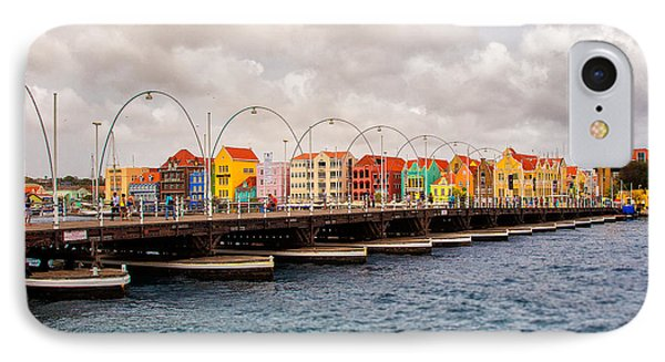Colors Of Willemstad Curacao And The Foot Bridge To The City IPhone Case