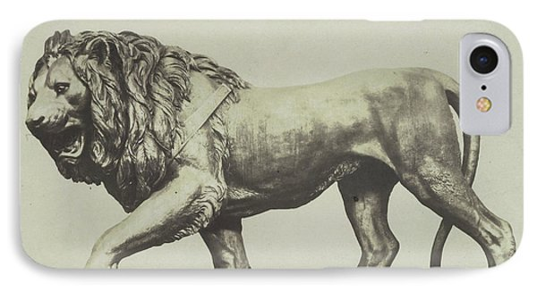 Colossal Bronze Lion. Miller IPhone Case by Artokoloro