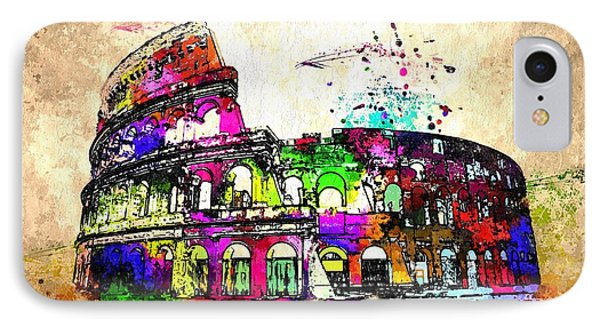 Colosseo Grunge  IPhone Case by Daniel Janda