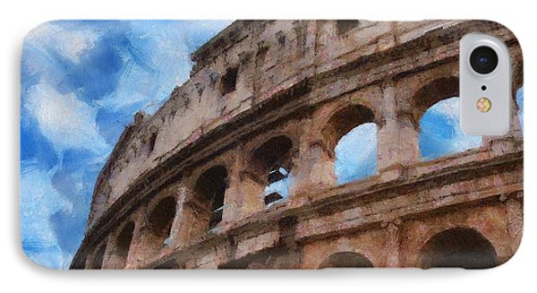 Colosseo Phone Case by Jeff Kolker