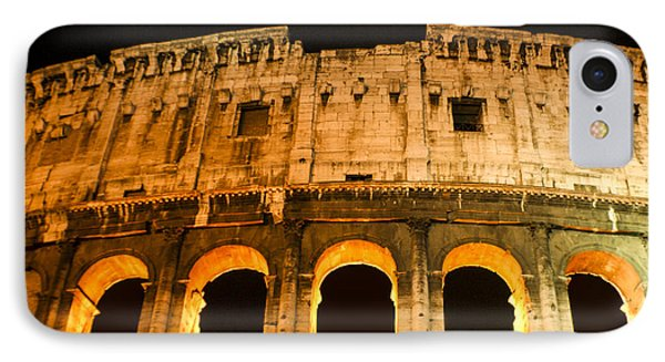 IPhone Case featuring the photograph Colosseum At Night by Rob Tullis