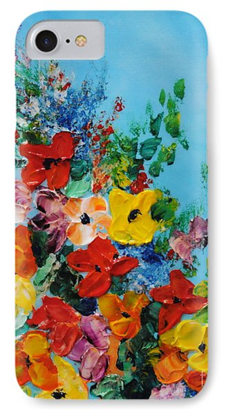 IPhone Case featuring the painting Colour Of Spring by Teresa Wegrzyn