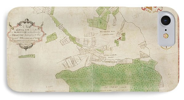 Coloured Map Of An Estate In Lower Lye IPhone Case by British Library