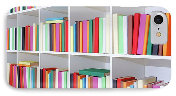 Colourful Books On A Bookcase IPhone Case