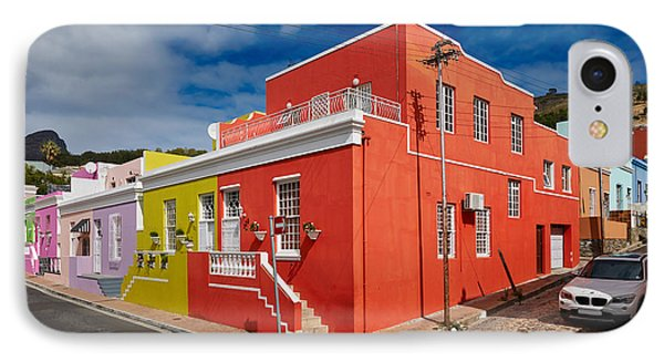 colourful buildings in Bo-Kaap Phone Case by Juergen Ritterbach