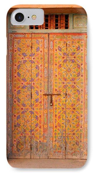Colourful Entrance Door Sale Rabat Morocco Phone Case by Ralph A  Ledergerber-Photography