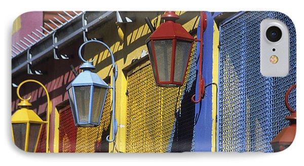 Colourful Lamps La Boca Buenos Aires Phone Case by James Brunker