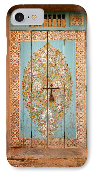 Colourful Moroccan Entrance Door Sale Rabat Morocco IPhone Case by Ralph A  Ledergerber-Photography