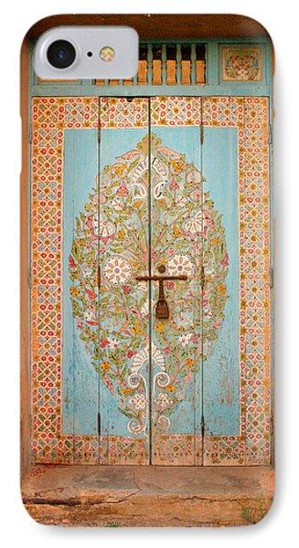 Colourful Moroccan Entrance Door Sale Rabat Morocco Phone Case by Ralph A  Ledergerber-Photography