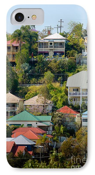 Colourful Queenslander Houses On A Steep Hillside  Phone Case by David Hill