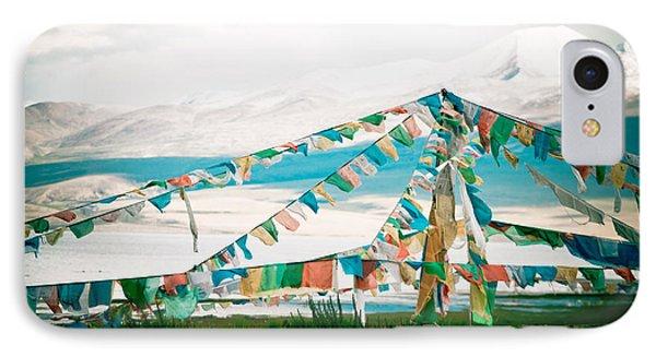 Colourfull Praying Buddhist Flags Lungta  Phone Case by Raimond Klavins
