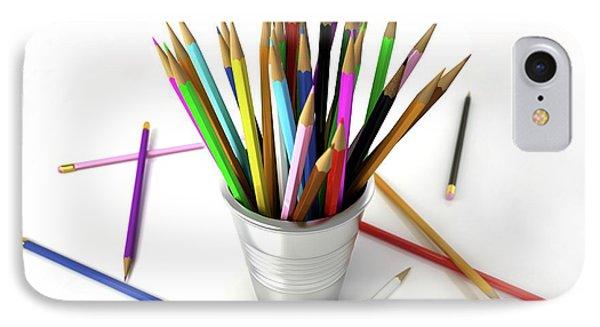 Colouring Pencils In A Pot IPhone Case by Leonello Calvetti