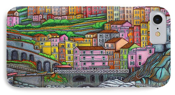 Colours Of Manarola Phone Case by Lisa  Lorenz