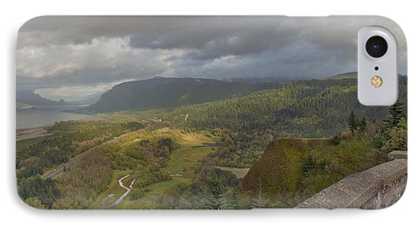 IPhone Case featuring the photograph Columbia River Gorge View From Crown Point by JPLDesigns