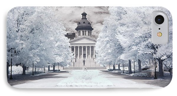 Columbia South Carolina Infrared Landscape  IPhone Case by Kathy Fornal