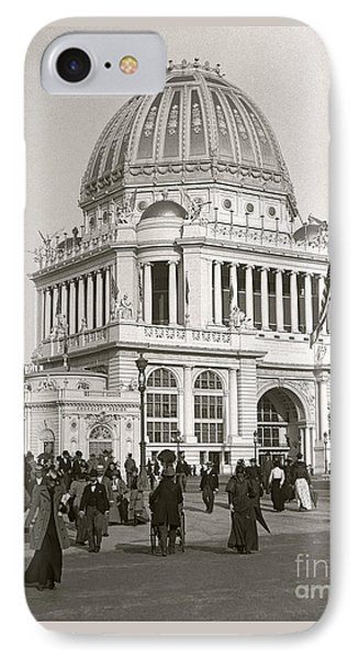IPhone Case featuring the photograph Columbian Exposition Chocolat 1893 by Martin Konopacki Restoration