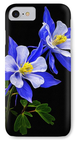 IPhone Case featuring the photograph Columbine Duet by Priscilla Burgers
