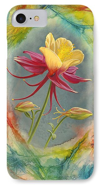 'columbine In Abstract' IPhone Case by Paul Krapf
