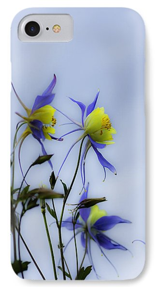 IPhone Case featuring the photograph Columbines by Peter v Quenter